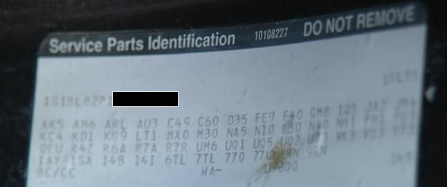 RPO Codes for my 1994 Caprice Wagon